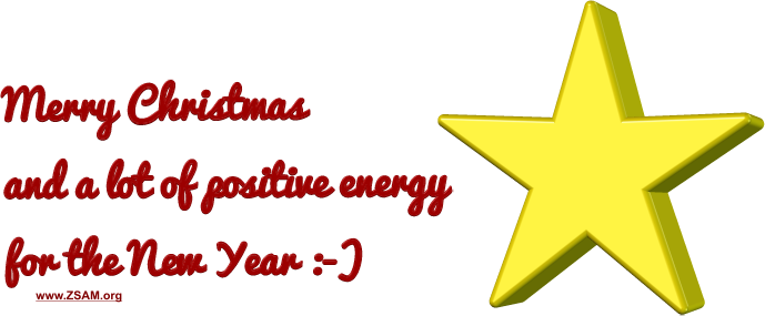 MERRY CHRISTMAS and a lot of positive energy for the NEW YEAR :-)
